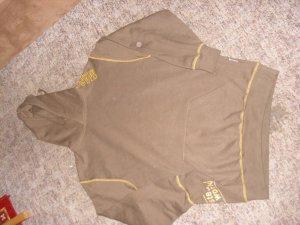Capuchon sweater bruin-oranje Katoen