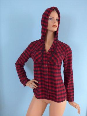 FB Sister Camicia con cappuccio rosso-nero Cotone