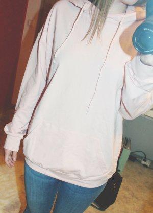 Kaputzensweatshirt mit Tasche - rosa