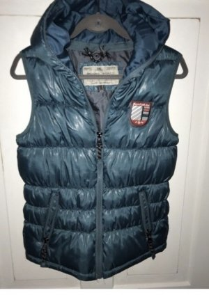 Broadway Hooded Vest petrol-cadet blue
