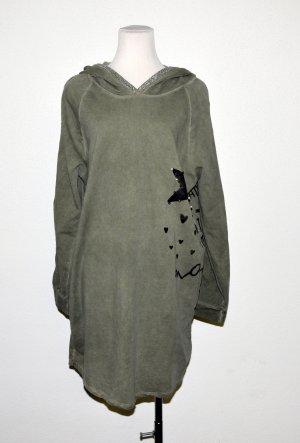 Kapuzen Kleid, Longshirt von Made in Italy Gr. L