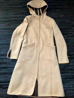 Donna Karan Cappotto con cappuccio color cammello Cotone