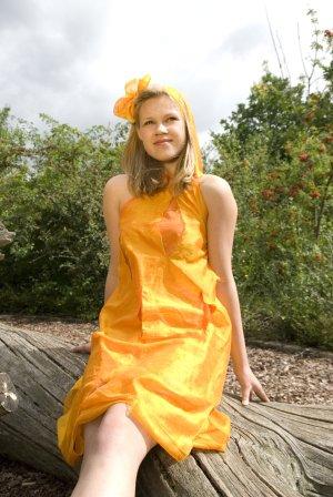 Hooded Dress multicolored mixture fibre