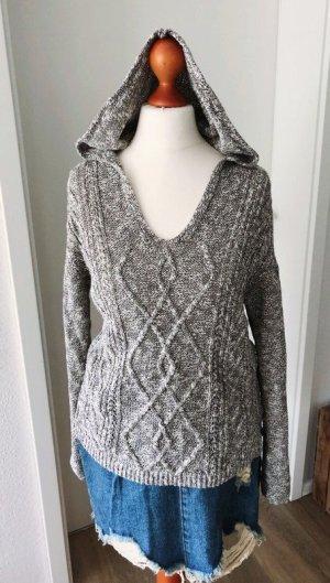 NILE atelier Pull à capuche gris clair-gris tissu mixte
