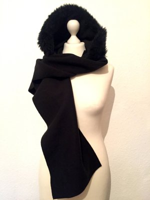 Kapuzen-Schal mit Kunstfell NEU