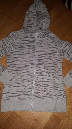 Capuchon vest zwart-grijs