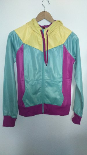 Kapuzen-Sweatjacke mit Colorblocking