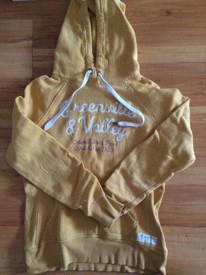 Kapuzen-Sweatshirt gelb