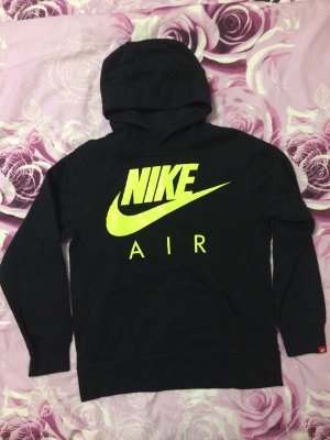 Nike Hooded Sweater black-neon yellow