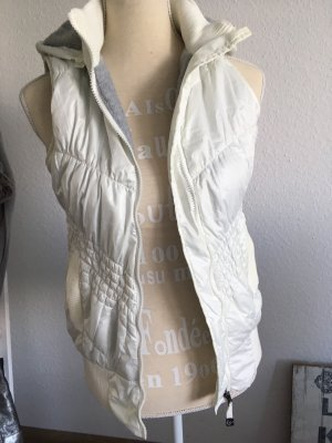 Hooded Vest natural white-light grey