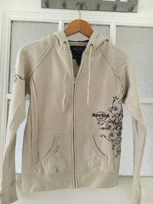 Jersey con capucha crema-marrón oscuro