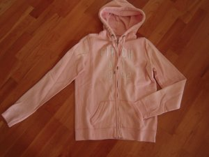 Kapuzen-Zipjacke rosa