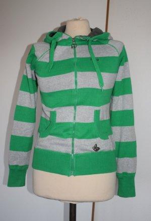 Kapuzen-Zipp-Jacke von Protest Boarderwear in Blockstreif