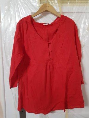 Blusa taglie forti rosso mattone