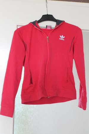 Adidas Hooded Sweatshirt neon red-raspberry-red
