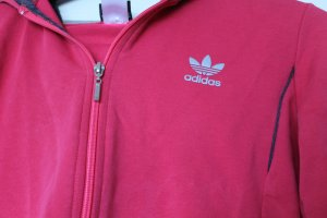 Adidas Hooded Sweatshirt neon red-raspberry-red