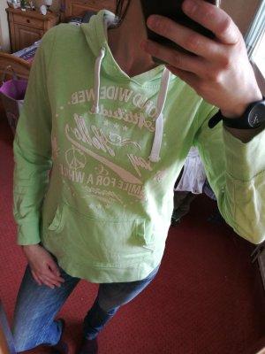 Pull à capuche vert pâle