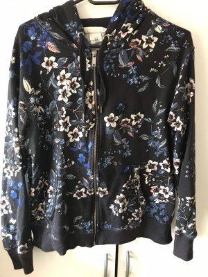 H&M Giacca con cappuccio nero-blu scuro