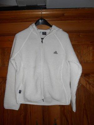 Adidas Giacca con cappuccio bianco-bianco sporco Fibra sintetica