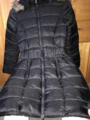 Veste à capuche noir-chameau