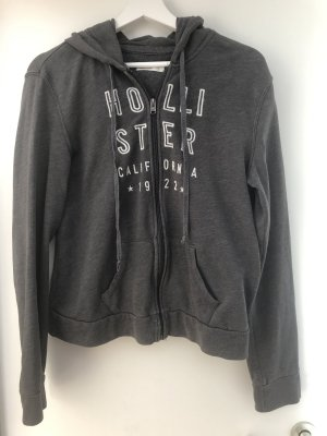 Hollister Chaqueta con capucha gris oscuro-blanco