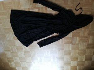 Vestido con capucha negro Algodón