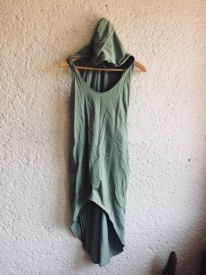 Vestido con capucha verde grisáceo-azul pálido Algodón