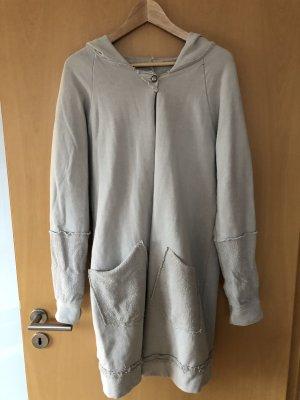 Manteau à capuche gris clair