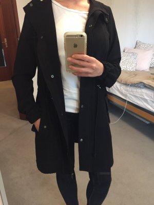 H&M Cappotto con cappuccio nero