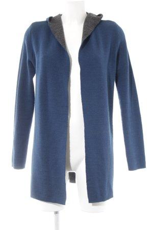 Kapuzenmantel blau-dunkelgrau Casual-Look