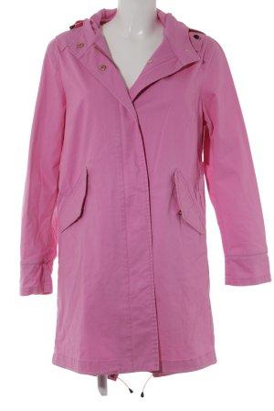 Manteau à capuche rose style décontracté