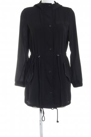 Manteau à capuche noir style décontracté
