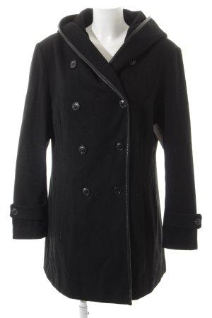Manteau à capuche noir style gothique