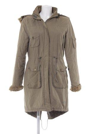 Manteau à capuche motif de courtepointe style décontracté