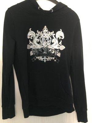 Amisu Capuchon sweater zwart-zilver