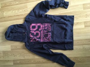 Atmosphere Capuchon sweater roze-donkerblauw