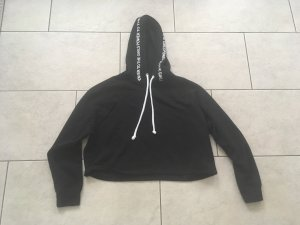 H&M Hooded Sweater black-white