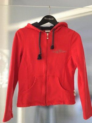 JP Jersey con capucha rojo-lila grisáceo