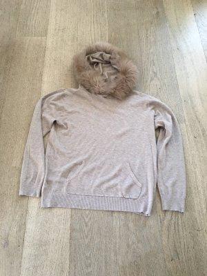 Beauty Women Hooded Sweater light brown