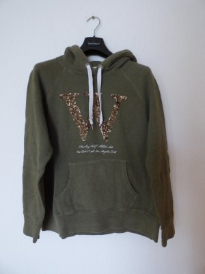 H&M L.O.G.G. Capuchon sweater donkergroen-brons