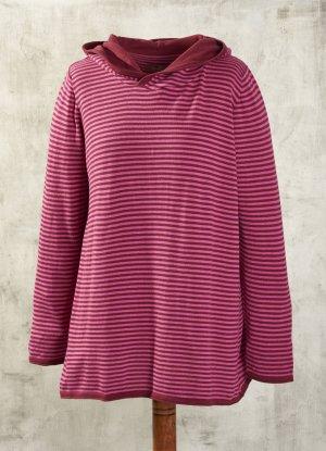Jersey con capucha rojo neón-violeta Algodón