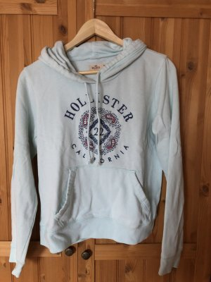 Hollister Hooded Sweater baby blue-mint