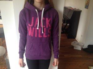Jersey con capucha violeta oscuro-púrpura Algodón