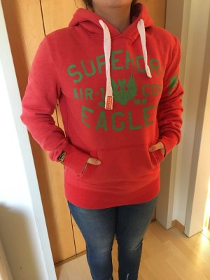 Superdry Hooded Sweater brick red-red