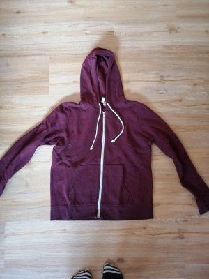 H&M Hooded Sweater white-carmine
