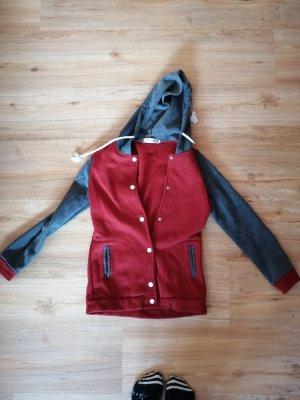 College Jacket grey-carmine