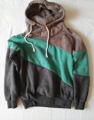 Jersey con capucha marrón-verde