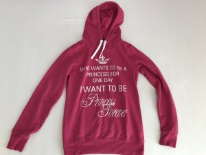Blind Date Hooded Sweater magenta-white