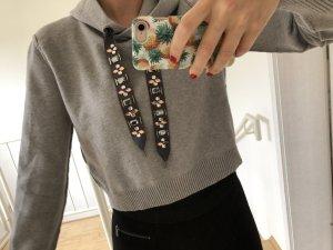 Zara Maglione con cappuccio grigio chiaro