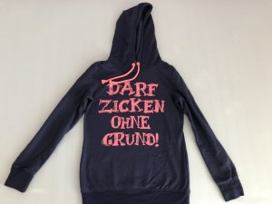 Blind Date Hooded Sweater slate-gray-neon pink